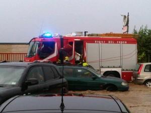 Vigile del fuoco sulla Torremaggiore San Severo