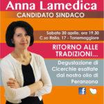 Apertura del comitato elettorale del candidato sindaco ANNA LAMEDICA il 30 aprile 2016, ecco il programma