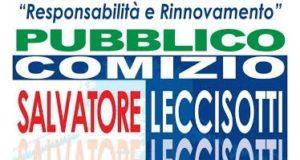 Pubblico comizio del candidato sindaco Salvatore Leccisotti il 30 maggio 2016 a Torremaggiore