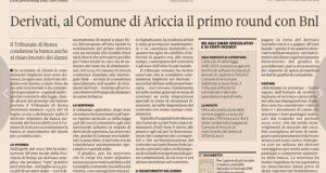 L'avvocato torremaggiorese Matteo Di Pumpo ottiene un'importante vittoria dal Tribunale di Roma in materia finanziaria e il quotidiano nazionale Il Sole 24 Ore gli dedica un articolo