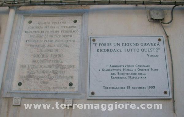 Casa natale di Nicola Fiani a Torremaggiore (Fg) - www.torremaggiore.com -