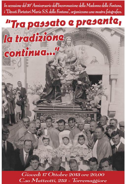 Mostra fotografica dei portatori della Madonna della Fontana il 17 ottobre 2013