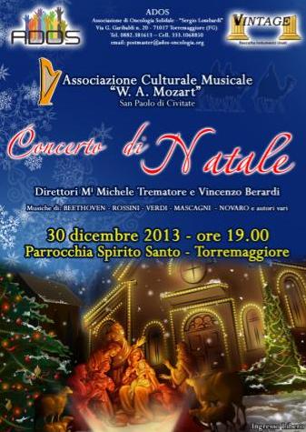 Concerto di Natale il 30 dicembre 2013 a Torremaggiore