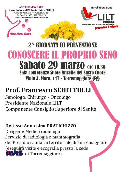 """Resoconto dell'evento """"Conoscere il proprio seno"""" del 29 marzo 2014, il 5 aprile altro appuntamento"""