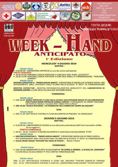 A Torremaggiore il 4-5 giugno 2014 l'evento Week-Hand