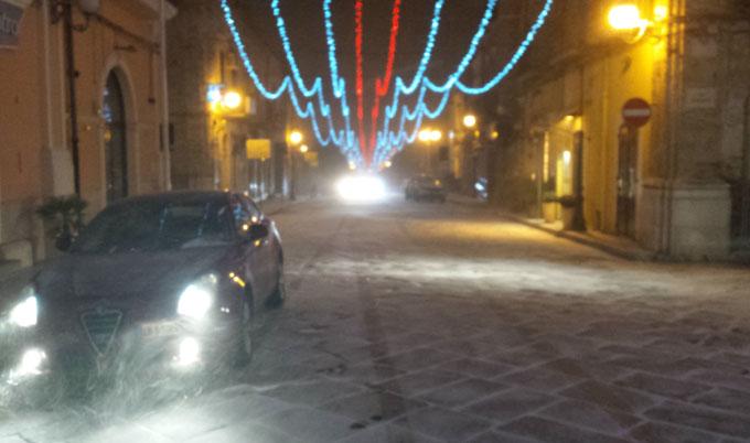 Corso Matteotti Torremaggiore neve - www.torremaggiore.com -