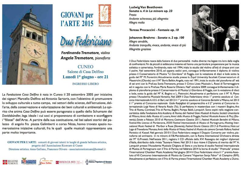 Duo federiciano il 1 giugno 2015 a Cuneo (con Ferdinando ed Angela Trematore di Torremaggiore)