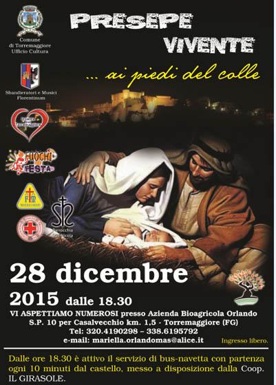Torna l'appuntamento con il Presepe Vivente a Torremaggiore il 28 dicembre 2015