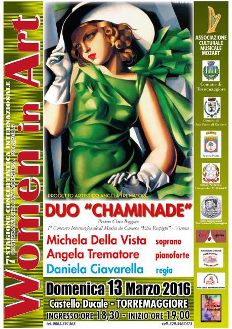 Women in Art il 13 marzo 2016 al Castello Ducale De Sangro di Torremaggiore