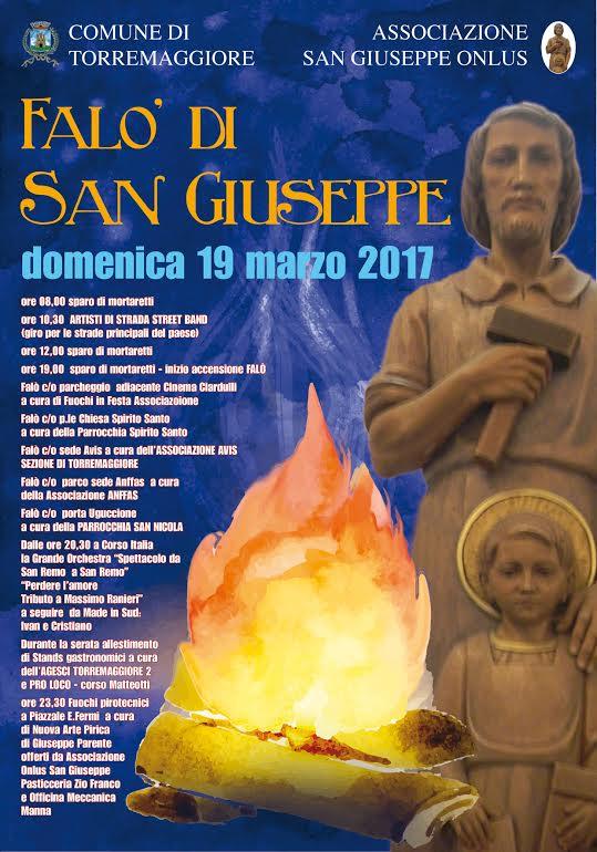 Programma Festa San Giuseppe a Torremaggiore domenica 19 marzo 2017