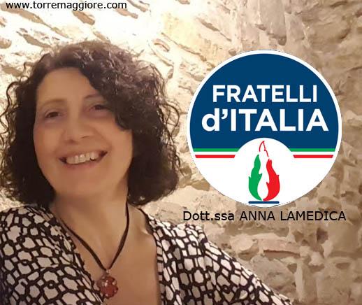 Anna Lamedica (Fratelli d'Italia): le mie ragioni al voto contrario all'ultimo consiglio comunale