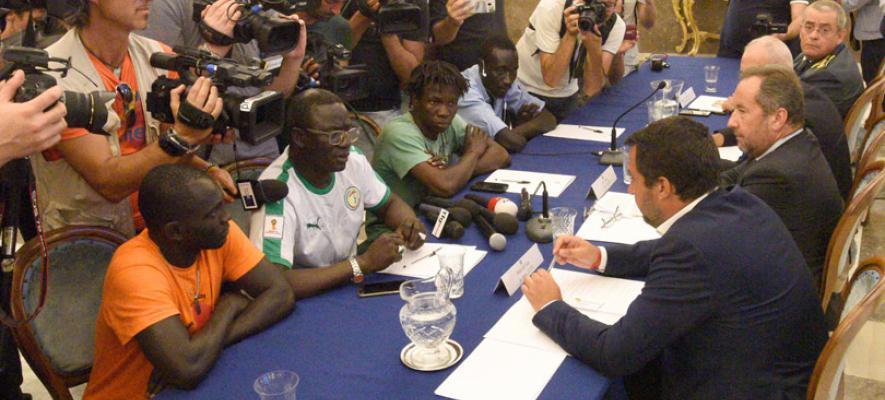 Il Ministro dell' Interno Salvini da Foggia: contrasterò la mafia paese per paese