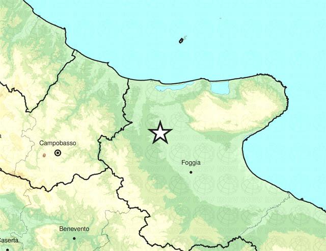 Scossa di terremoto alle 4.57 del 18 aprile 2020