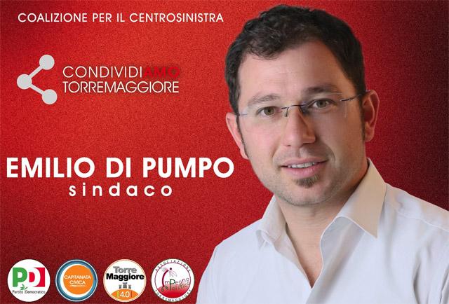 Ufficiale: è Emilio Di Pumpo il candidato alla carica di sindaco per la coalizione di centrosinistra a Torremaggiore