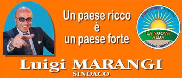 Pubblico comizio del candidato sindaco Luigi Marangi sabato 18 maggio 2019 alle ore 20.30