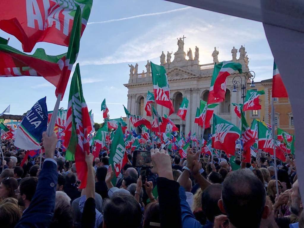 Anche la delegazione di Forza Italia e Lega di Torremaggiore a Roma il 19 ottobre 2019 per la giornata dell' Orgoglio Italiano
