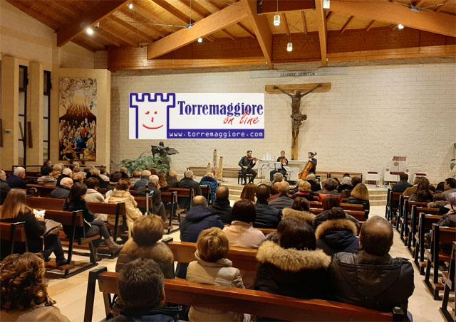 Grande affermazione al Concerto dell'Immacolata a Torremaggiore con il Trio De Sono alla Parrocchia Spirito Santo nella serata del 7 dicembre 2019