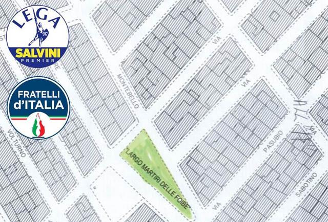 Il triangolo verde tra via Montebello e Via Sabotino sarà dedicato ai Martiri delle Foibe a Torremaggiore