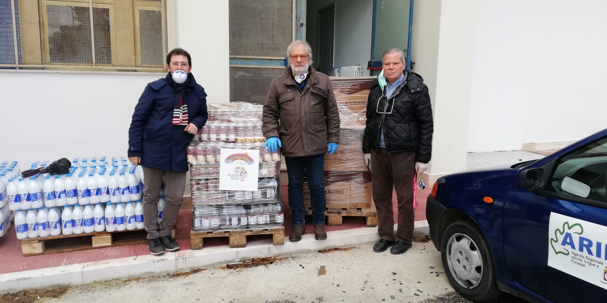 Missione Africa ha consegnato al Comune di Torremaggiore 1500 kg di prodotti alimentari per le famiglie bisognose