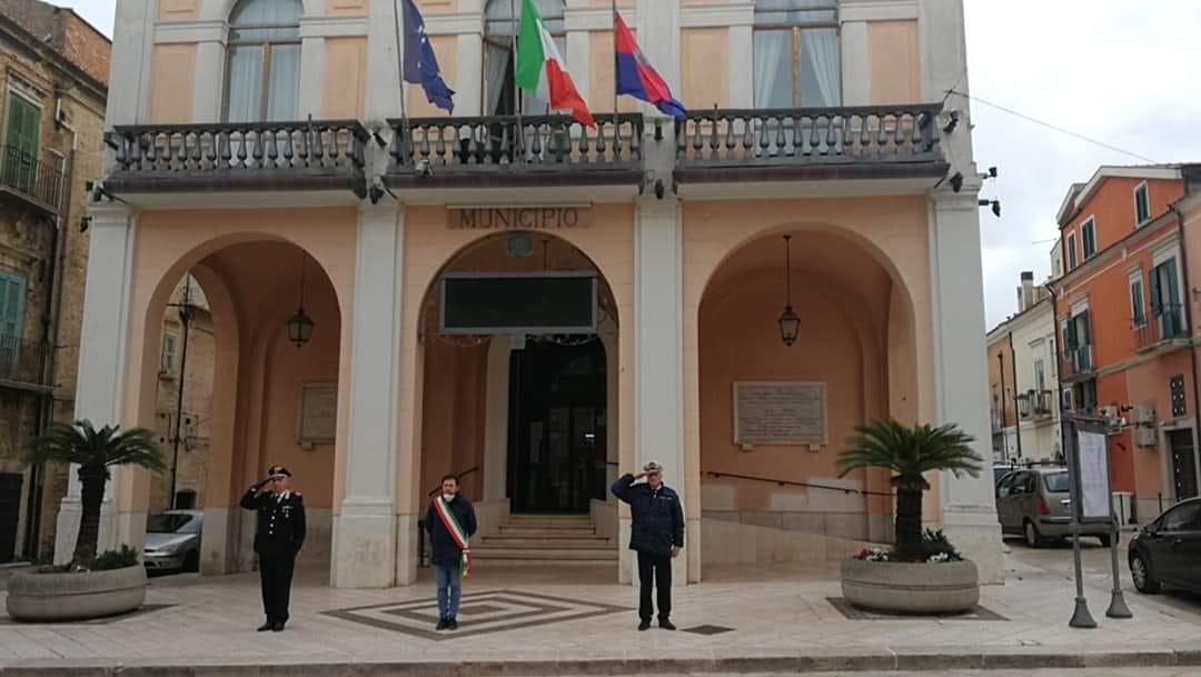 Anche a Torremaggiore si è svolta la commemorazione per le vittime del Coronavirus il 31 marzo alle ore 12