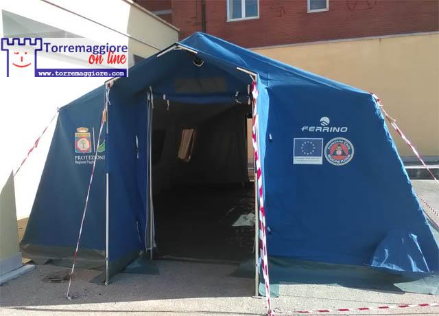 Torremaggiore: installata tenda al PTA San Giacomo per effettuare tamponi da parte del personale sanitario dell'ASL