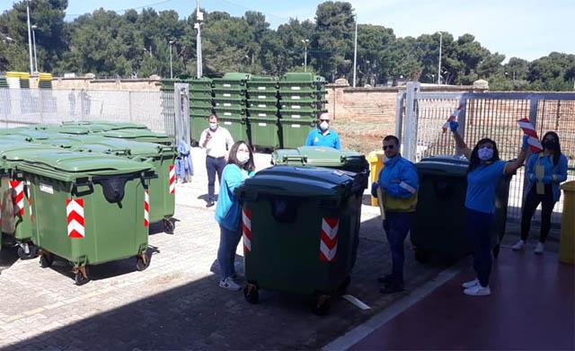 Torremaggiore: i nuovi contenitori per la raccolta differenziata sono in consegna in città