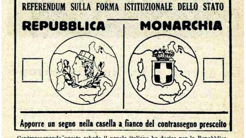 2 giugno 2020: settantaquattro anni fa il referendum sulla forma istituzionale dello stato Italiano, il 54% degli italiani scelse la Repubblica ma ci fu esito contrario in Provincia di Foggia