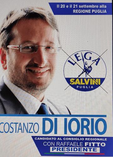 Regionali Puglia 2020: l'appello al voto del candidato al consiglio regionale Costanzo Di Iorio (Lega Salvini Puglia), ex sindaco di Torremaggiore