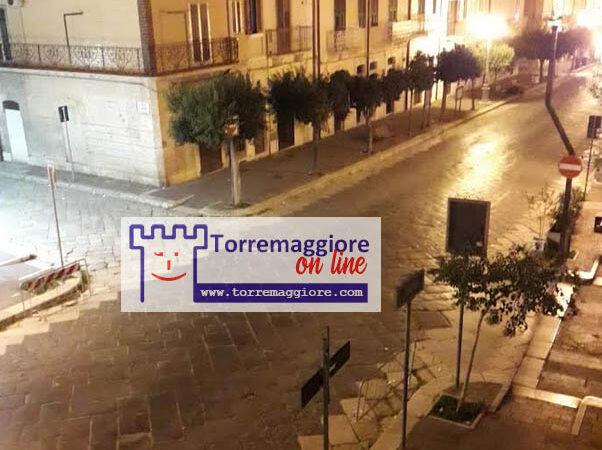 Al via il coprifuoco serale previsto dal DPCM, ecco le prime foto della Torremaggiore silenziosa