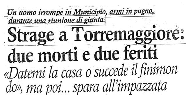 Strage di San Nicola 6 dicembre 1990: la rassegna completa del giornalista Severino Carlucci