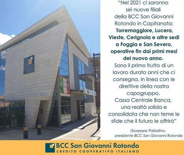 BCC di San Giovanni Rotondo aprirà una filiale a Torremaggiore