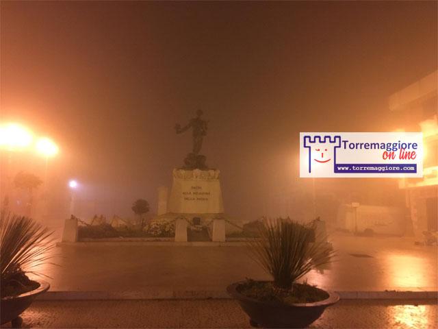 Galleria fotografica Torremaggiore con nebbia 5 febbraio 2021