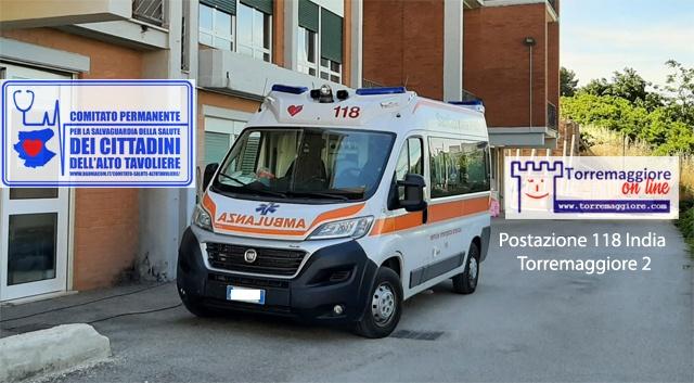 Dopo la fondata preoccupazione del Comitato Salute Alto Tavoliere per l'eliminazione della seconda ambulanza del 118 a Torremaggiore per le esigenze turistiche della città di Vieste ad agosto e a settembre 2021 l'Assessora regionale Rosa Barone su Facebook dichiara che l'ASL FG ci ha ripensato