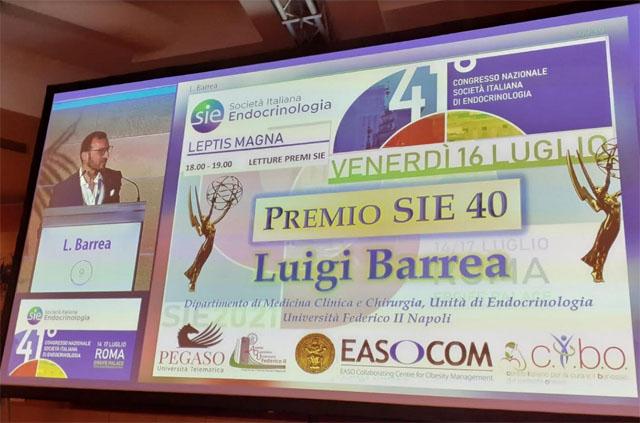È il torremaggiorese Luigi Barrea il miglior Ricercatore in Endocrinologia under 40 d'Italia