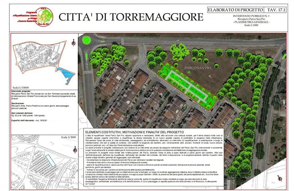 In arrivo un finanziamento regionale di 2,3 milioni di euro per alloggi popolari e per la riqualificazione del Parco San Pio a Torremaggiore