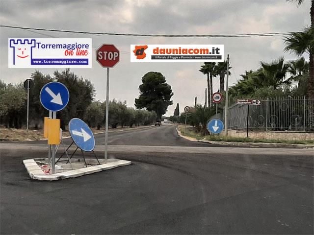 Messa in sicurezza dell'intersezione tra la SP 32 e la SP 142 (Contrada Tatozzo): ecco le immagini del rifacimento effettuato dalla Provincia di Foggia